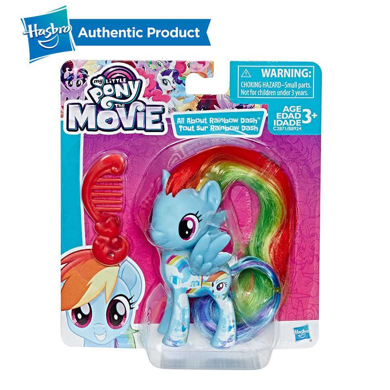Hasbro meu pequeno pônei amigos 3-Polegada fluttershy arco-íris traço pinkie pie lyra heartstring raridade figura de ação brinquedo colecionável
