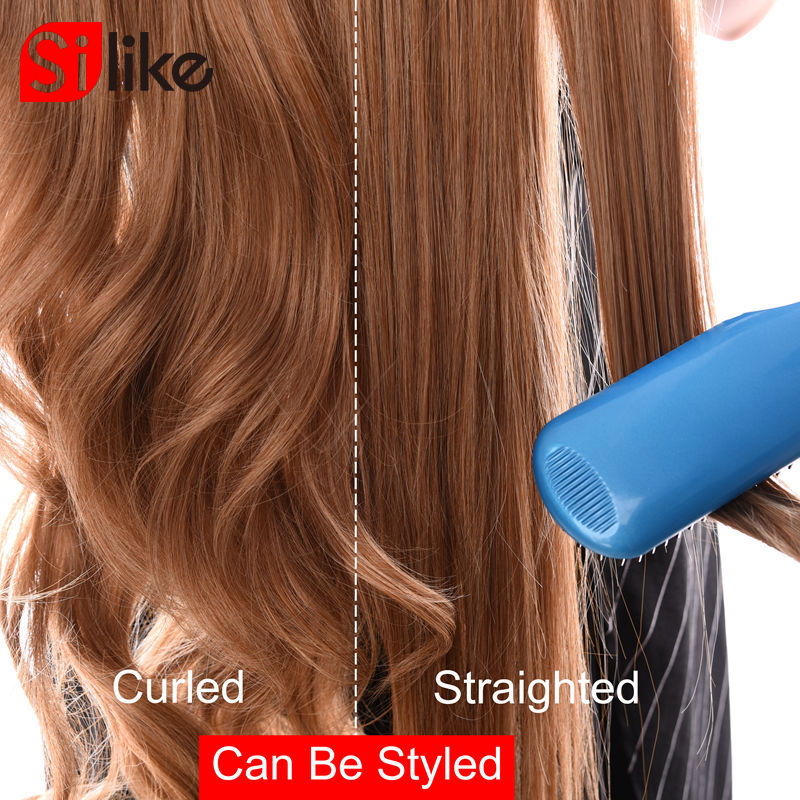 Silke Long Wavy Clip in Synthetic Hair Extensions 24 inch 190G/PC 4 Clips Heat Resistant Fiber 17 Colors For Women