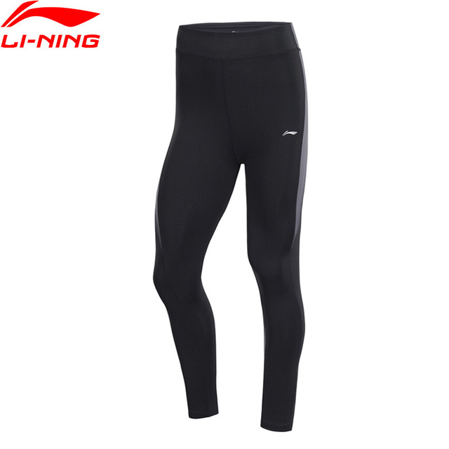 Li-Ning Women Training Series Base Layer Tight Fit 83% Nylon 17% Spandex LiNing Fitness Comfort Sports Pants AULP036 WKY221