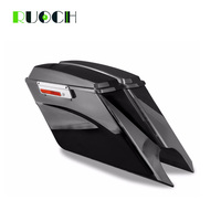 Motorcycle 5Stretched Extended Hard Saddlebags Saddle Bag Trunk For Harley Touring Road King Electra Glide Road Glide 1997 2013