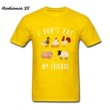 """I Don't Eat My Friends"" vegan men's t-shirt"