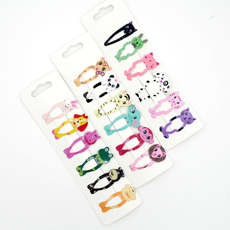 Cheaper animal BB clip cute baby style children hair decoration Fashion accessory 6pcs per set