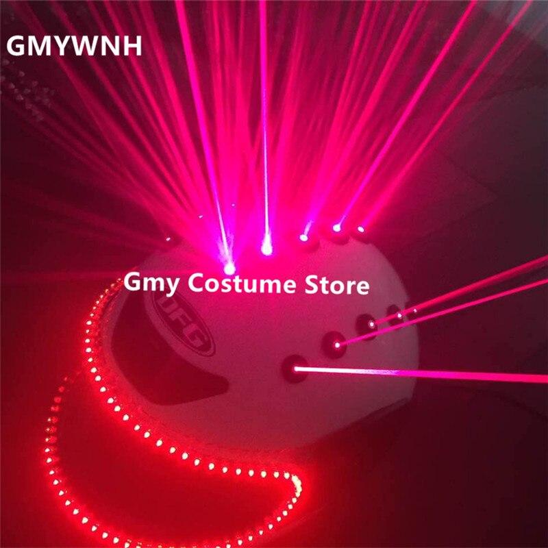 T90 Rouge laser poutres dj casques rouge laser homme projecteur led lumière costumes ballroom dance performance étape porte partie spectacle bar