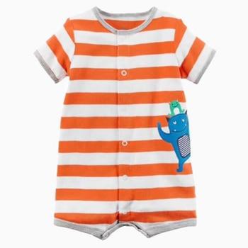 b08b738b8 Ropa de bebé recién nacido pijamas de verano mono de algodón para bebés  niñas niños monos ropa de moda para niños lindos mameluco