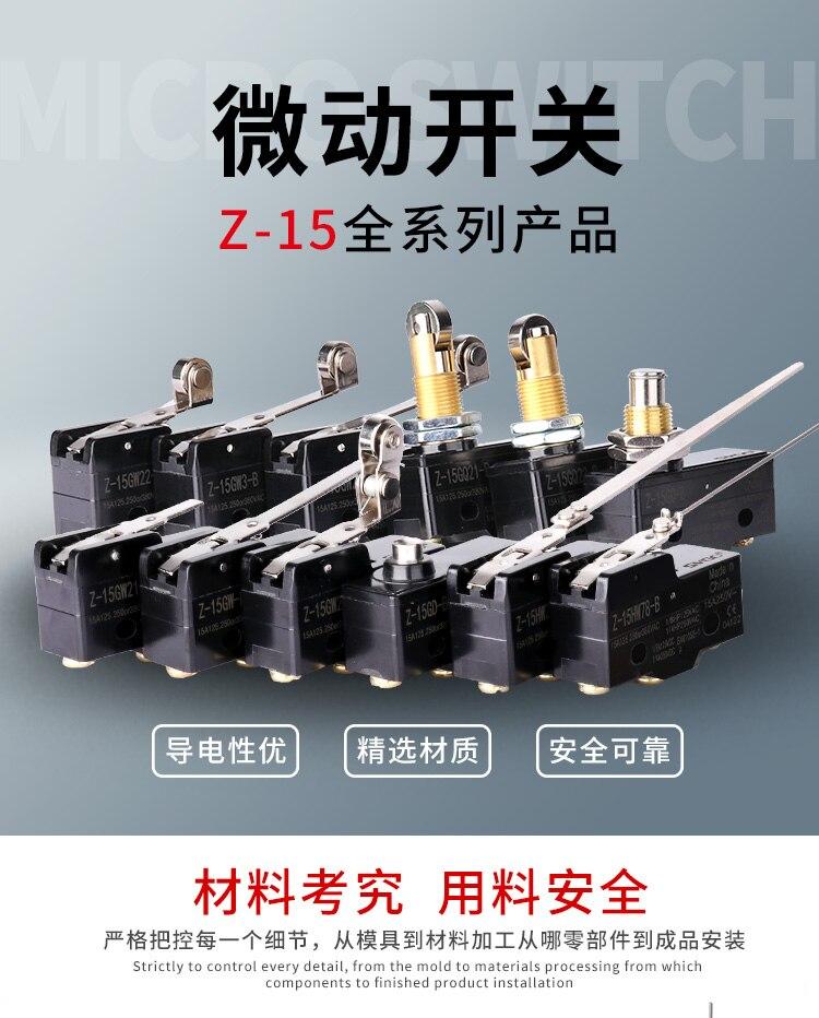 Curso interruptor de limite interruptor micro Z
