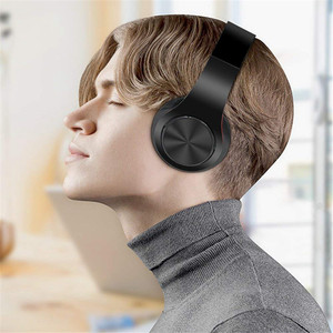 Image 5 - Bluetooth kulaklıklar aşırı kulak kablosuz kulaklıklar katlanabilir stereo kulaklık mikrofonlu kulaklık desteği TF kart FM PC müzik MP3