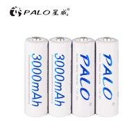 Оригинал Palo AA батареи 1,2 в AA 3000 мАч Ni-MH предварительно Заряженная аккумуляторная батарея 2A Baterias для камеры игрушки