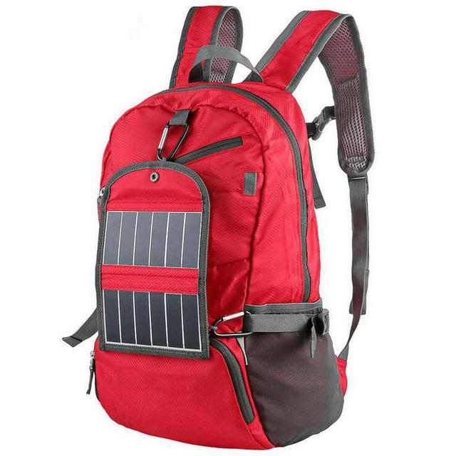 New 3.25W 6V Outdoor Sport Solar Backpack Foldable Light Weight Solar Panel Charger Bag for Traveling Hiking With Power Bank
