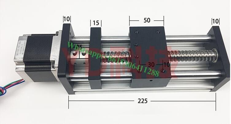 GGP 1610- 350mm BallScrew Slide Rail Linear Guide Moving Table Slip-way+ 1pc Nema23 stepper motor 57 Stepper Motor toothed belt drive motorized stepper motor precision guide rail manufacturer guideway