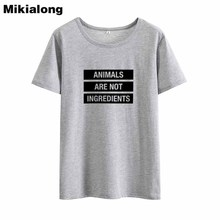 Animals are NOT ingredients women's shirt