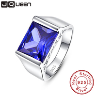 Top Quality Elegant 925 Sterling Silver Engagement Rings Emerald AAA Tanzanite CZ Sapphire Stones Rings For