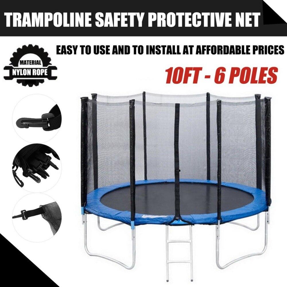 מקצועי טרמפולינה אביב כיסוי טרמפולינה בטיחות מגן נטו צרור מארז 10FT-6 קטבים, 13Ft-8 קטבים, 14Ft-8 קטבים