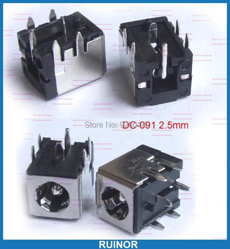 50 pièces 5.5mm x 2.5mm DC prise de courant PORT DC prise pour ordinateur portable PCB DC-091 de soudage