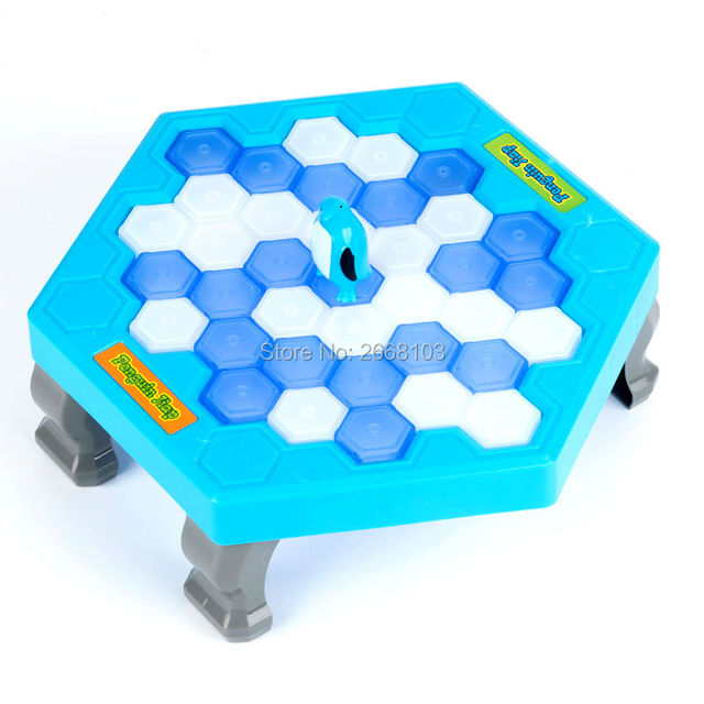 Penguin Ice Breaking Save The Penguin Fun Family Kids Toy For Children Desktop Game Who Make The Penguin Fall Off Lose This Game