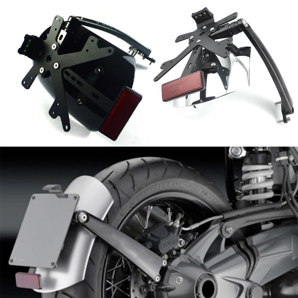 For BMW R NINE T R NINET R9T Scrambler RACER PURE SPORT 2014-2018 Motorcycle Rear Fender Bracket mudguard with LED License plate