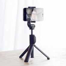 Em Estoque! xiaomi portátil mini tripé 3 em 1 retrato do telefone monopé selfie vara do bluetooth do obturador remoto sem fio preto