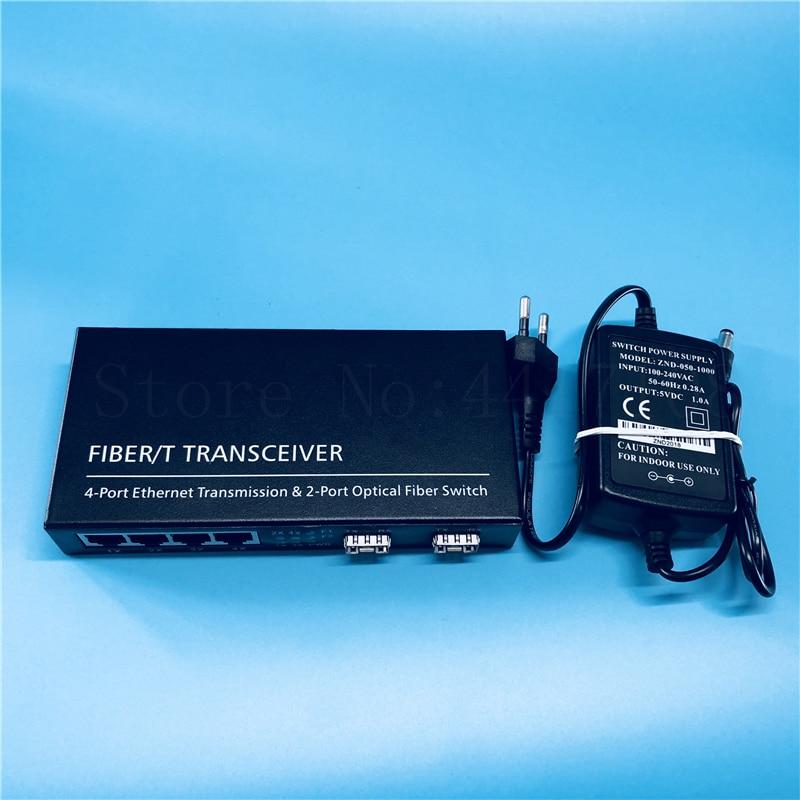 จัดส่งฟรี 2SFP4E 10/100/1000 เมตร Gigabit Ethernet Switch Ethernet Fiber Optical Media Converter 4RJ45 & 2 * SFP fiber Port-ใน อุปกรณ์ไฟเบอร์ออปติก จาก โทรศัพท์มือถือและการสื่อสารระยะไกล บน AliExpress - 11.11_สิบเอ็ด สิบเอ็ดวันคนโสด 1
