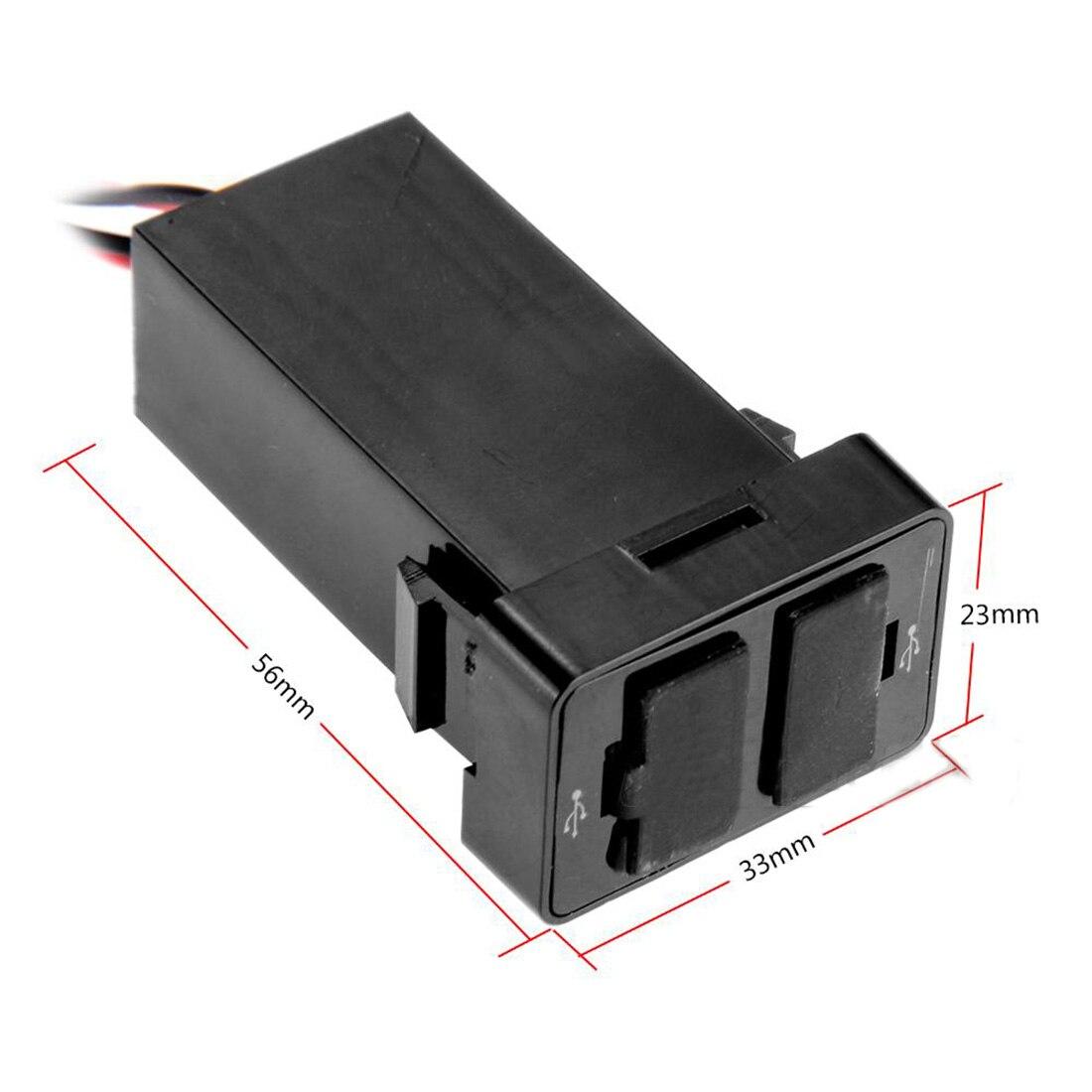 hot sale new car 2 1a dual usb port socket fuse cell. Black Bedroom Furniture Sets. Home Design Ideas