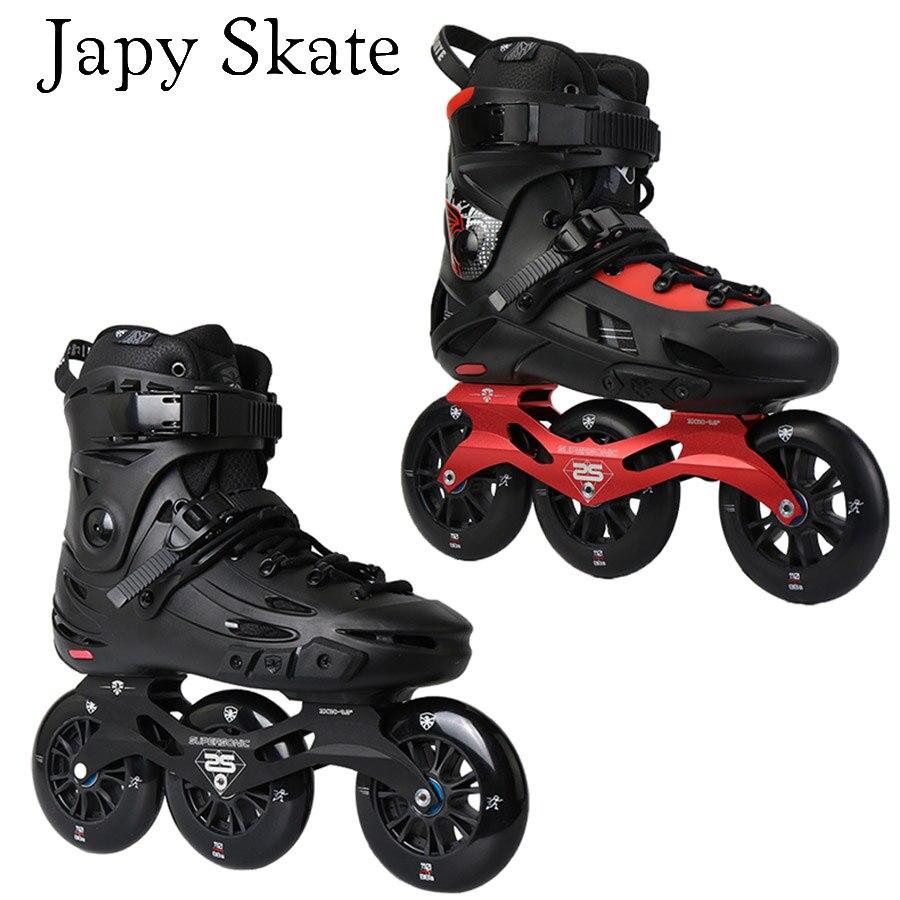 Jus Japy Skate Flying Eagle F110 F110H Vitesse roller-skates 3*110mm Roues Professionnel Rouleau Adulte De Patinage Chaussures Livraison De Patinage patine