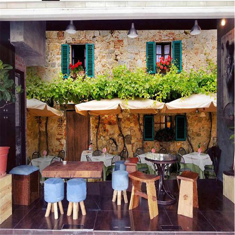 Beibehang Personalizado Papel De Parede-3d Deluxe Qualidade HD Café Da Rua Europeia Apreciam a arte de decoração mural papel de parede papel mural parágrafo pared