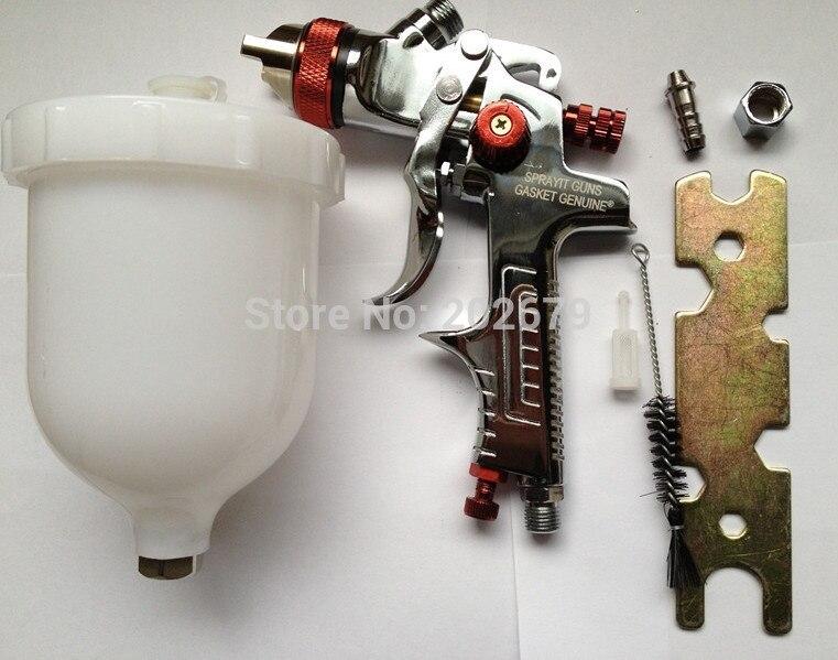 Free shipping HVLP Spray Gun Auto Gravity 1 4 Feed Paint Spray Pistol Power Tools W