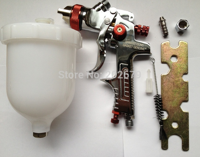 Free shipping  HVLP Spray Gun Auto Gravity 1.4 Feed Paint Spray Pistol Power Tools W-960 hvlp spray gun auto car paint spot repair professional spraye tools spray gun lvlp