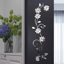 3D настенные наклейки, акриловый в форме цветка, настенные наклейки 100X30 см, модные креативные diy наклейки на диван, настенные наклейки, s украшения