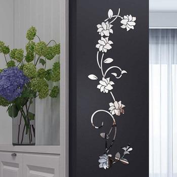 3D wall stikcers  Flower Shape Acrylic Wall Sticker 100X30CM fashionable creative diy Sofa setting wall Stickers Decoration hot