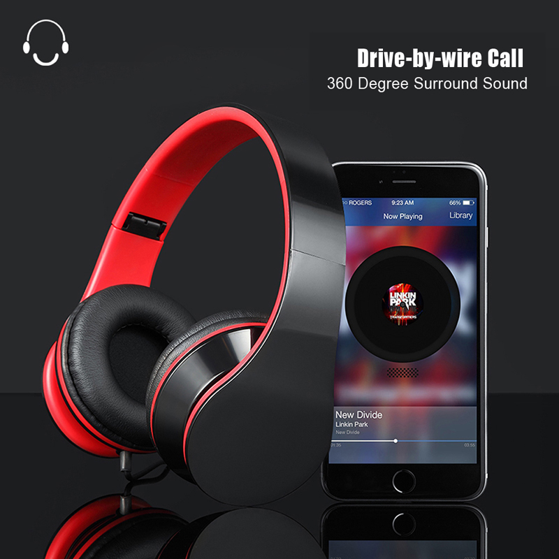 3.5mm wired stereo headphones 7.1 Surround sound, noise cancelling gaming headset with mic for pc laptop smartphones iPhone