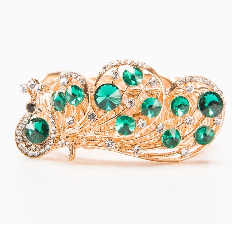Nouveau Mode Haute Qualité Multicolore Incrustation Strass Bracelets et Bracelets pour les femmes Bracelets indiens Or Plaqué ex.