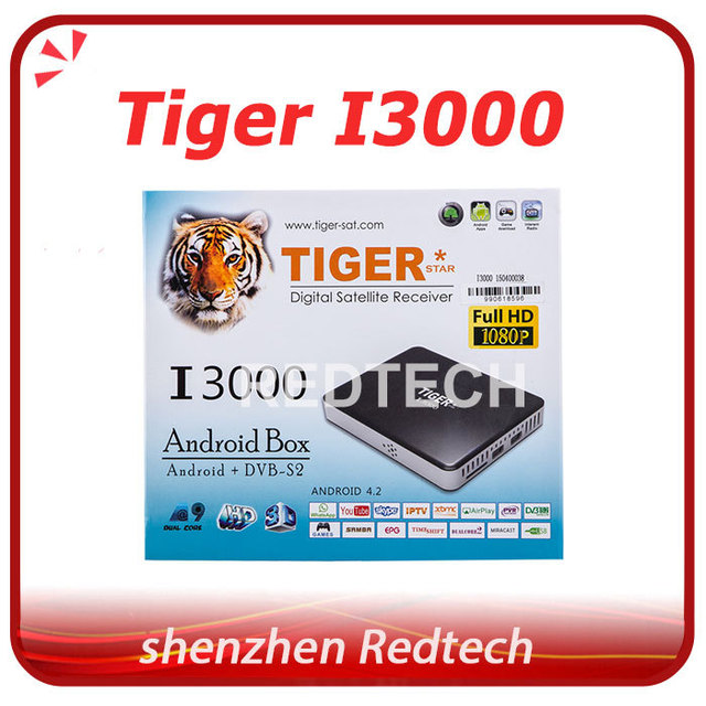 US $159 0 |Original Tiger I3000 HD Satellite Receiver android free arabic  iptv box osn bein sport over 700 channels dhl free shipping-in Satellite TV