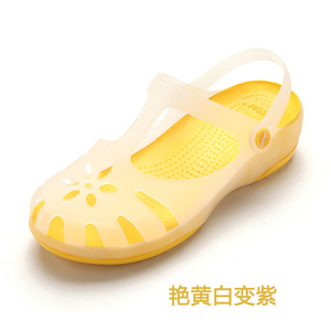 Image 4 - קיץ נשים פרדות כפכפים חוף לנשימה נעלי בית אישה של סנדלי ג לי נעלי חמוד לטשטש גן נעלי לסתום לאישה בנות