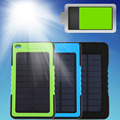 8000mAh Portable Waterproof Solar Power Bank Backup Battery Charge For Phone External Portable Solar Panel with LED light