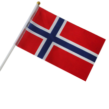 Norway  flag America hand flag flaying 20X30cm 10piece 10piece 100