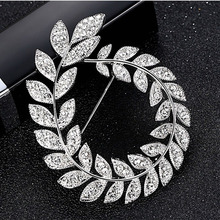 New Hot Sale Crystal Rhinestone Olive Branch Brooches For Women Elegant Brooch Pin Party Clothes Garment Accessories Jewelry порог пр 02 бронза 1 8 м н 39 4 мм 6 18 разноуровнев пр 02 1800 04