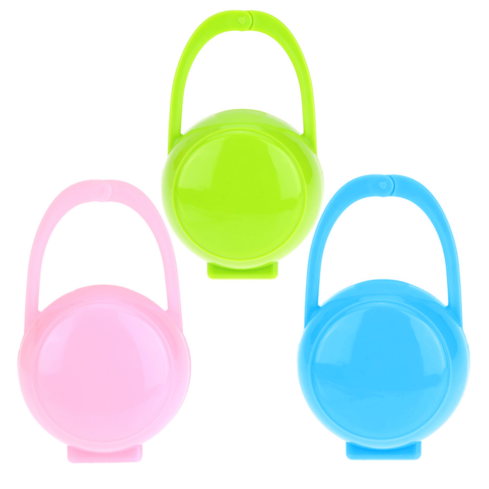 4PCS Baby Soother Pacifier Dummy Travel Storage Box Case Holder