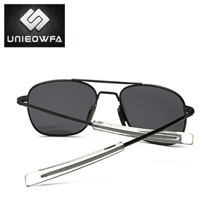 Image 5 - UNIEOWFA Männlichen Klassischen AO Sonnenbrille Männer Polarisierte Fahren UV400 Goggle Sonnenbrille Für Männer Polaroid Legierung Platz Pilot Sunglas