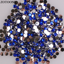 ZOTOONE Flatback Non Hotfix Royal Blue Resin Rhinestone Nail Art Decorations Crystals For Crafts Glue On Rhinestones Phone E