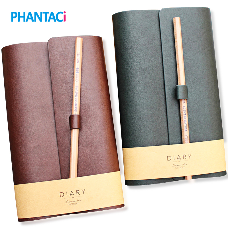 Europe Style Vintage Leather Notebook Business Agenda Planner Notebooks Office Stationery Diary Travel Journal Sketchbooks