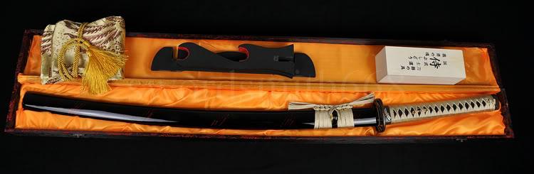 YAPONESE SAMURAI SWORD DRAGONFLY KATANA TAM TANG CLAY TEMPERED - Ev dekoru - Fotoqrafiya 6