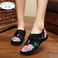 Chaussure Femme Vintage Floral Embroidery Shoes Woman Chinese Style Loafers Zapatos Mujer Sapato Feminino Soft Sole Women Flats