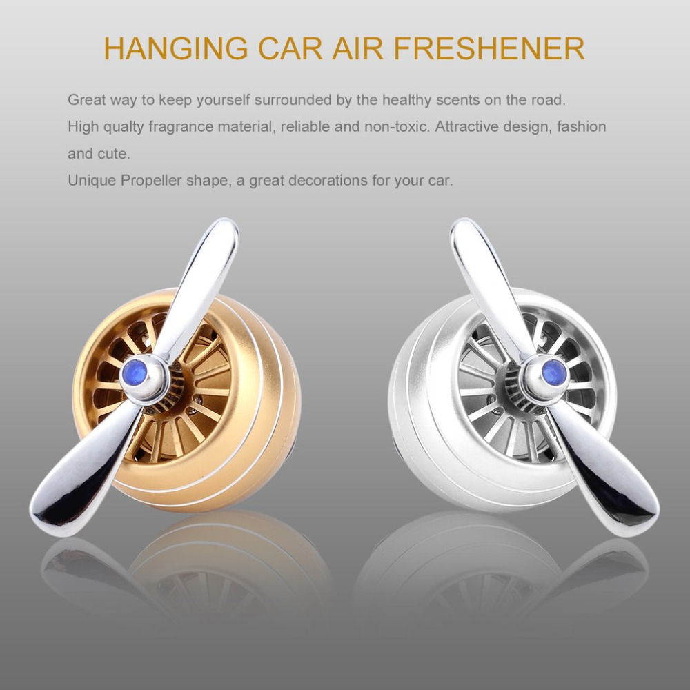 Auto perfume diffuser propeller shaped air freshener vent clip car decoration with 2 perfume tablet for
