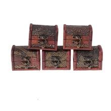 1 Uds. Caja de joyería de madera Vintage nueva caja de dulces de regalo de boda organizador de maquillaje cosméticos pendientes anillo organizador
