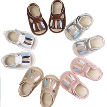 yooap New baby hard bottom toddler shoes small leaves wild non-slip rubber sandals kids Flat Heels