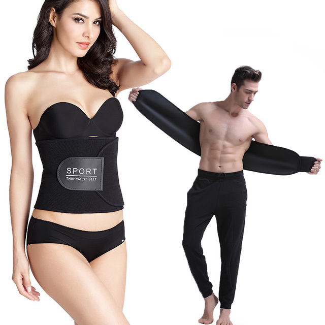 ab9cea2750 MUKATU Neoprene Waist Trimmer Belt for Women Men Hot Shapers Waist Belt  Slimming Body Shaper Girdles