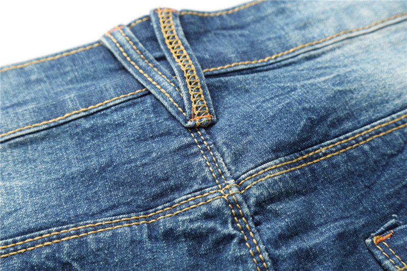 MOGU Fashion Hole Denim lühikesed püksid meeste suveks uued vabaaja - Meeste riided - Foto 3