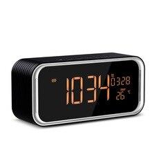 איכות סופר בס Bluetooth רמקול נייד אלחוטי סטריאו Altavoz נודניק מעורר דיגיטלי שעון AUX TF מדחום LED תצוגה