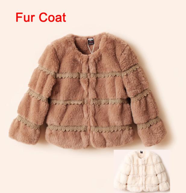 Nuevas muchachas de la manera faux fur clothing suave y cómodo abrigo de invierno abrigos ropa para niños envío gratis