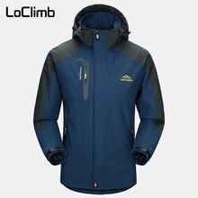 LoClimb Мужская Весенняя/Осенняя уличная/походная куртка мужская горная Треккинговая ветровка 5XL пальто для рыбалки водонепроницаемые куртки AM163