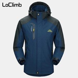 Image 1 - LoClimb Mens Spring/Autumn Outdoor/Hiking Jacket Men Mountain Trekking Windbreaker 5XL Fishing Coat Waterproof Jackets AM163